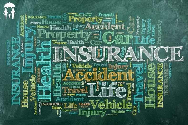 insurance words greenboard