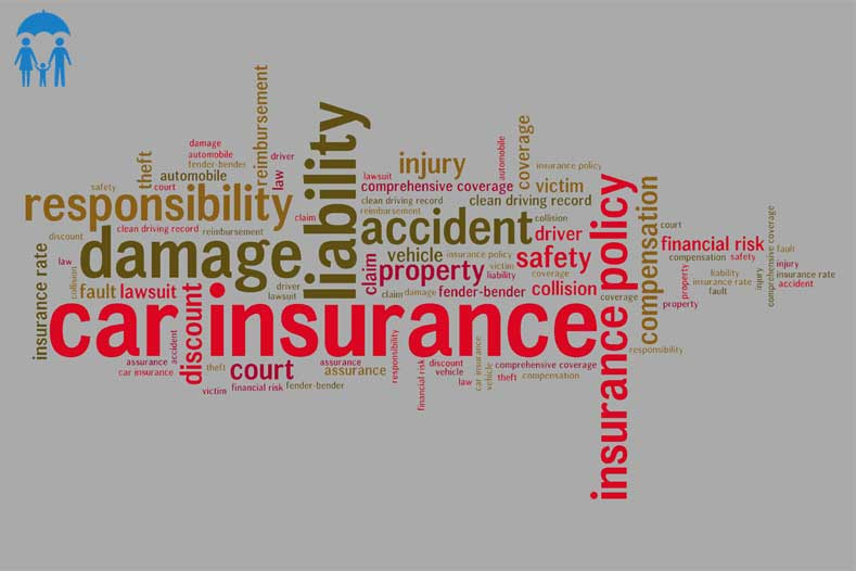 insurance words grey